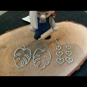 Two Silver Foxy Originals Earrings made in Canada